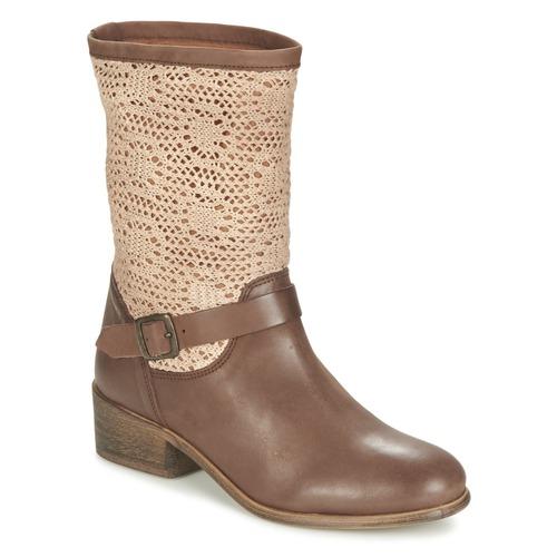 Skor Dam Boots Betty London CASTAGNO Brun