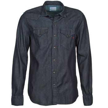 textil Herr Långärmade skjortor Replay M4860N Grå