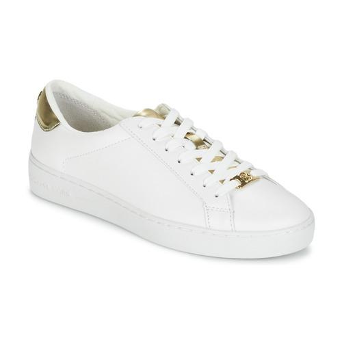 Skor Dam Sneakers MICHAEL Michael Kors IRVING Vit / Guldfärgad