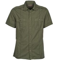 textil Herr Kortärmade skjortor Chevignon C MILITARY TWIL Grön