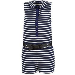 textil Dam Uniform Petit Bateau FAITOUT Marin / Vit