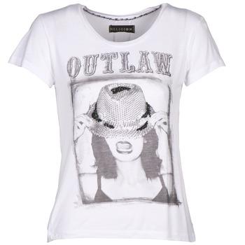 textil Dam T-shirts Religion B123OLT45 Vit