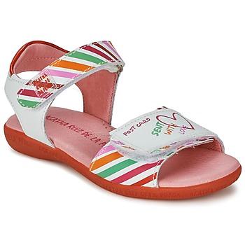 Skor Flick Sandaler Agatha Ruiz de la Prada CAZOLETA Vit / Flerfärgad