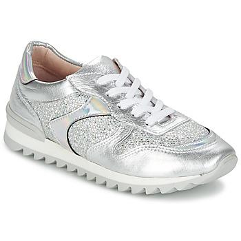 Skor Dam Sneakers Unisa DALTON Silverfärgad / Vit