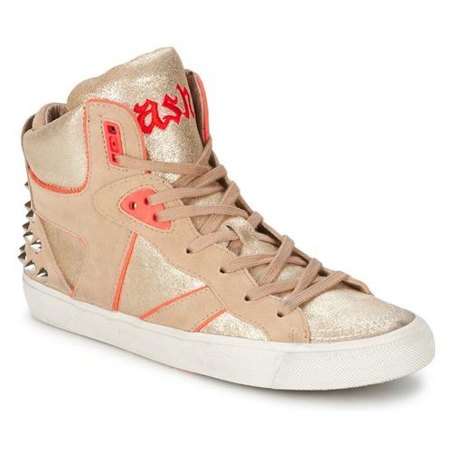 Skor Dam Höga sneakers Ash SPIRIT Beige / Rosa