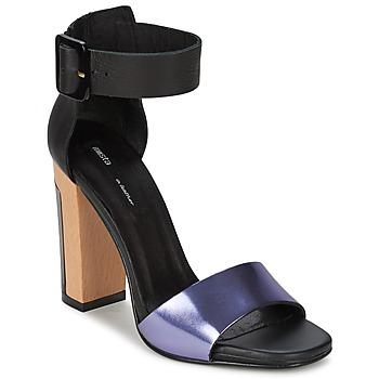 Skor Dam Sandaler Miista LILY Svart / Lavendel