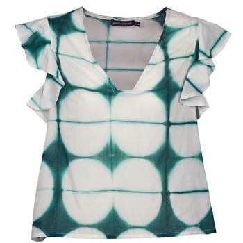 textil Dam T-shirts Antik Batik BAB Vit / Grön