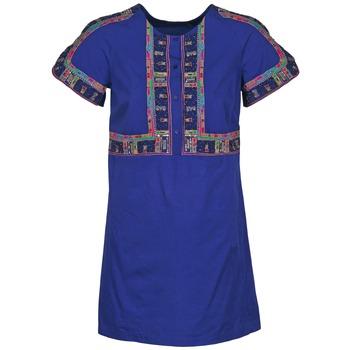 textil Dam Korta klänningar Antik Batik EMILIE Marin