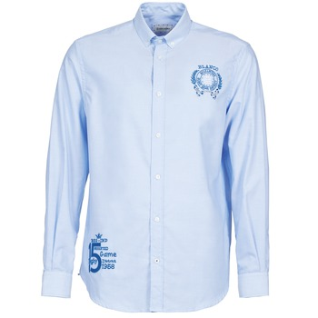 textil Herr Långärmade skjortor Serge Blanco ANTONIO Blå