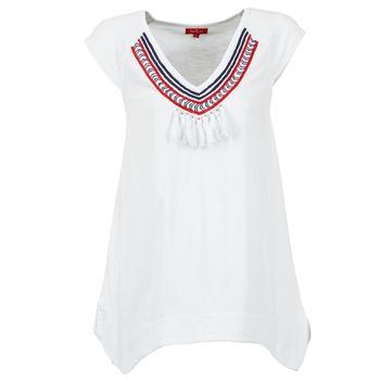 textil Dam T-shirts Derhy GALION Vit