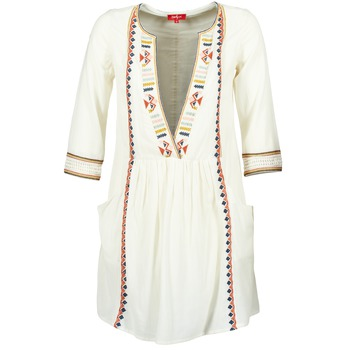 textil Dam Korta klänningar Derhy EMBOUCHURE Benvit