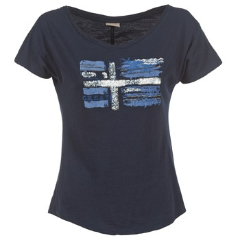 textil Dam T-shirts Napapijri SINK Marin