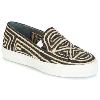 Skor Dam Slip-on-skor Robert Clergerie TRIBAL Svart / Beige