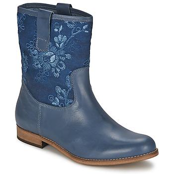 Skor Dam Boots Alba Moda FALINA Blå