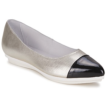 Skor Dam Ballerinor Alba Moda DRINITE Silver / Svart