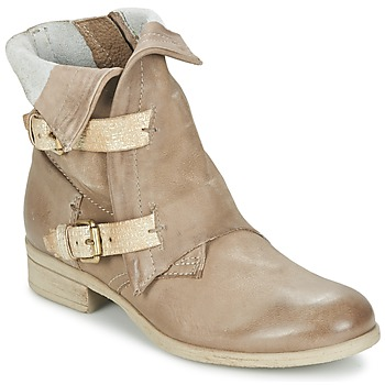 Skor Dam Boots Dream in Green ANJELIKA Beige