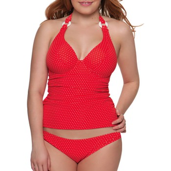 textil Dam Bikinibyxa / Bikini-bh Curvy Kate CS2705 FLAME SPOT Röd