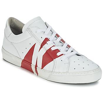Skor Herr Sneakers Bikkembergs RUBB-ER 668 LEATHER Vit / Röd