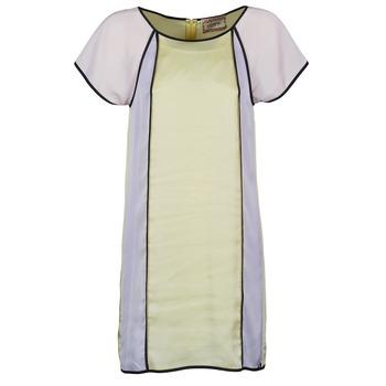 textil Dam Korta klänningar Chipie FREGENAL Gul / Grå