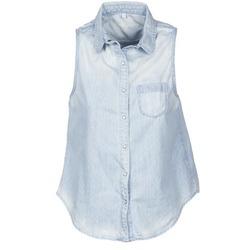 textil Dam Kortärmade skjortor Pepe jeans POCHI Blå