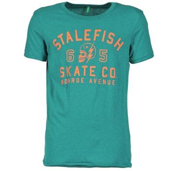 textil Herr T-shirts Benetton IXIDINE Grön