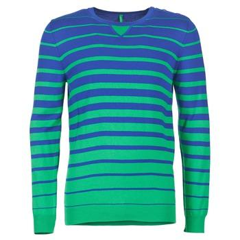 textil Herr Tröjor Benetton FODIME Marin / Grön