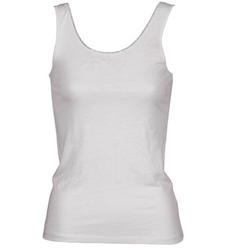 textil Dam Linnen / Ärmlösa T-shirts Majestic 701 Vit
