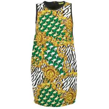 textil Dam Korta klänningar Versace Jeans NDM909 BIS Svart / Flerfärgad