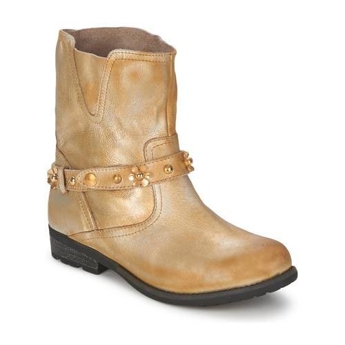 Skor Dam Boots Moschino Cheap & CHIC CA21013 Guldfärgad