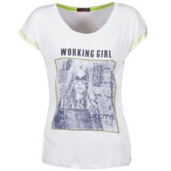 textil Dam T-shirts La City TMCD3 Vit