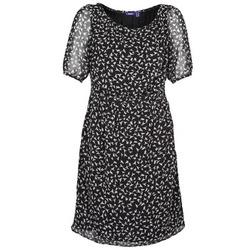 textil Dam Korta klänningar Mexx 13LW130 Svart / Vit