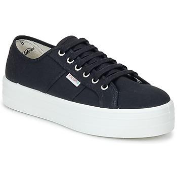 Skor Dam Sneakers Victoria BLUCHER LONA PLATAFORMA Svart