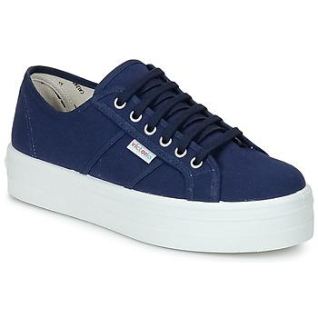 Skor Dam Sneakers Victoria BLUCHER LONA PLATAFORMA Marin