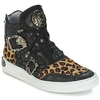 Skor Dam Höga sneakers New Rock ANTERLO Leopard
