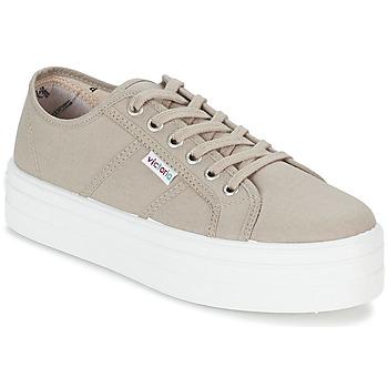 Skor Dam Sneakers Victoria BLUCHER LONA PLATAFORMA Beige