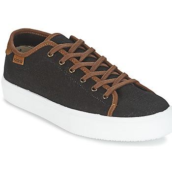 Skor Herr Sneakers Victoria BASKET LINO DETALLE MARRON Svart / Brun