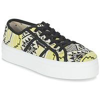 Skor Dam Sneakers Victoria BASKET ETNICO PLATAFORMA Svart / Gul