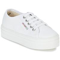 Skor Flick Sneakers Victoria BASKET LONA PLATAFORMA KIDS Vit