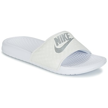 Skor Dam Flipflops Nike BENASSI JUST DO IT W Vit / Silver