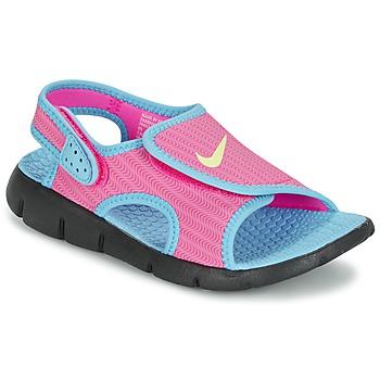 Skor Flick Sandaler Nike SUNRAY ADJUST 4 Rosa / Blå