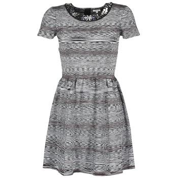 textil Dam Korta klänningar Manoush BIJOU ROBE Svart / Grå