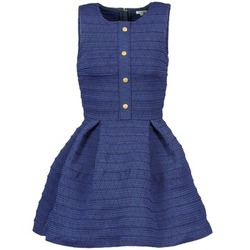 textil Dam Korta klänningar Manoush ELASTIC Blå