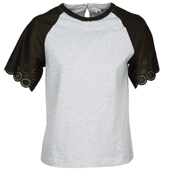 textil Dam T-shirts Manoush FANCY Grå / Svart