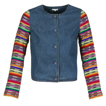 textil Dam Jackor & Kavajer Manoush INDIAN DENIM Blå