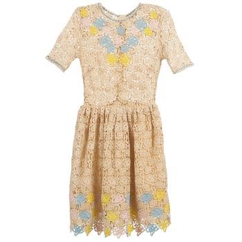 textil Dam Korta klänningar Manoush ROSES Benvit