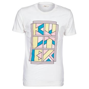 textil Herr T-shirts Kulte ANATOLE BLOCK Vit