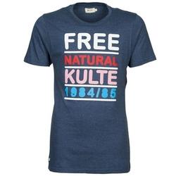 textil Herr T-shirts Kulte AUGUSTE FREE Blå