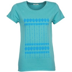 textil Dam T-shirts Kulte JULIETTE BATIK Blå