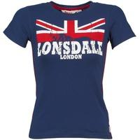 textil Dam T-shirts Lonsdale ERYKAH Blå