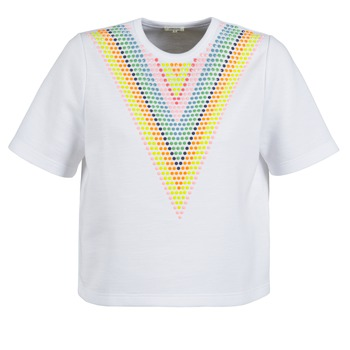 textil Dam Sweatshirts Manoush DOUDOU STAR Vit